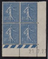 Semeuse 1 F - Coin Daté - 1927 - Coins Datés