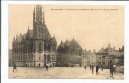 Poperinghe. Stadhuis en Postbureel-H�tel de Ville et Bureau des postes