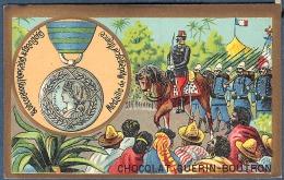 Chromo Chocolat Guerin-Boutron Décorations Françaises Et étrangères Médaille De Madagascar France 1886 1895 - Guerin Boutron