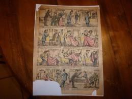 Vers 1900       Imagerie D'Epinal  N° 375    LA METAMORPHOSE D'UN NEZ        Imagerie Pellerin - Vieux Papiers