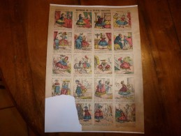 Vers 1900       Imagerie D'Epinal  N° 1082    HISTOIRE DE LA PETITE COQUETTE        Imagerie Pellerin - Vieux Papiers