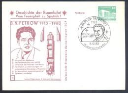 Germany DDR 1983 Card: Space Weltraum Espace: History Of Space Flights 37/50: B.N. Petrow Rockets Raketen Technik - USA
