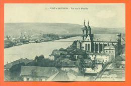 """Dpt 54  Pont à Mousson """"  Vue Sur La Moselle  """" - Pont A Mousson"""