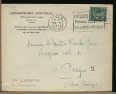 FRANCE - PARIS - CHEQUES POSTAUX - DEMANDEZ L´OUVERTURE D´UN COMPTE COURANT - 1923 - Storia Postale