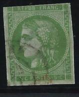 FRANCE - N° Cérès 42 P - 4ème état Vert Jaune - Cote Cérès 400€ - 2éme Choix ( Touché Et Aminçi ) - A Voir - Lot P13234 - 1870 Bordeaux Printing