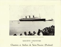 1929 - Rare Iconographie - Saint-Nazaire (Loire-Atlantique) - Paquebot Ile-de-France - FRANCO DE PORT - Vecchi Documenti