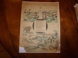 Vers 1900       Imagerie D'Epinal  N° 3060    LE LION & LE CHASSEUR (La Fontaine)        Imagerie Pellerin - Vieux Papiers