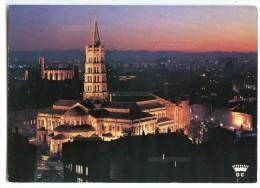 Toulouse Ville D´art - Basilique Saint-Sernin Au Couchant - Couvent Cordeliers Et Jacobins - Pour Jeu-concours 2 Scans - Toulouse