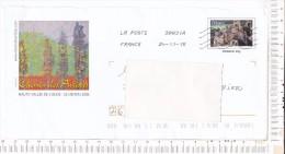 ENVELOPPE   PRE TIMBREE   - Oblitérée  - Illustration     -   CHEMIN  Des   ARTISTES   -   Haute  Vallée  De L  Aude  - - Gebruikt