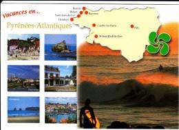CPM GEOGRAPHIQUE CONTOUR DEPARTEMENT PYRENEES ATLANTIQUES PAYS BASQUE AUTRE CROIX BASQUE - Carte Geografiche