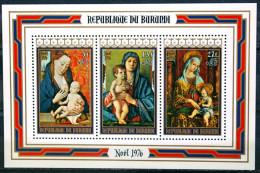 Burundi - 1976 - Tableaux - Dirk Bouts - Bellini - Crivelli - Vinci - Raphael - Correggio - Neufs Avec Surcharge + 2F - Madonne