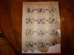 Vers 1900  Imagerie Pellerin, Série AUX ARMES D'EPINAL  N° 97  UN MATIN DE NOCE Histoires & Scènes Humorist. Par TROCK - Verzamelingen