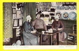 * Marken (Noord Holland - Nederland) * (kleurenphoto Jos Nuss & Co Haarlem) Interieur, Breiwerk, Haakwerk, Rare - Marken