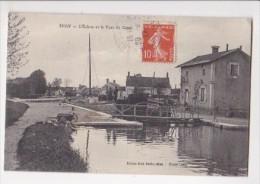 Cpa EPISY Ecluse Et Pont Du Canal - Emile Gelé Tabac Cl Coffin - France