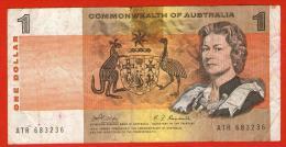 AUSTRALIA 1966 1972 - Banconota Da 1 DOLLARO - Firma : H. C. Coombs And R. J. Randal 1968 CAT. Wor:P-37b - Emissioni Governative Decimali 1966-...