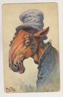 Arthur Thiele.Horse as jewish, judaica humour.T.S.N. Serie 215(6 Dess)