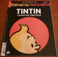 TINTIN L'AVENTURE CONTINUE EO Brochée Telerama Etat Neuf - Kunst