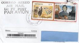 Z3] Enveloppe Cover Mexique Mexico Real Imperf Stamps ? Vrais Timbres Non Dentelés ? Einstein Vélo Bike Physique Physics - México