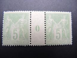 FRANCE - N° Yvert 102 En Paire Avec Millésime 0 - Neufs ** - 1 Expl. Avec Infime Adhérence Cote100 - A Voir - Lot P13239