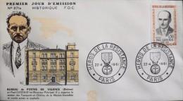 FDC 1er JOUR 1961 - Paul GATEAUD Héros De La Résistance - Paris Le 22 Avril 1961 - En Trés Bon état - 1960-1969