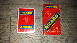 jeu de 54 cartes publicit� ricard  anisette cartes sous blister