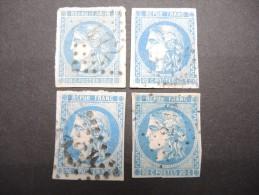 FRANCE - 4 Exemplaires Avec Et Sans Défauts - A Voir - Lot P13245 - 1870 Bordeaux Printing