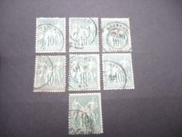 FRANCE - N° 65 - 7 Exemplaires Avec Et Sans Défauts - Cote 150€ - A Voir - Lot P13246 - 1876-1878 Sage (Type I)