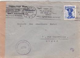 LETTRE AUTRICHE 1949  POUR ALGERIE + CENSURE / 6573 - Austria