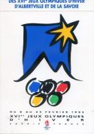 Autocollant De L'affiche Officielle Des XVI Jeux Olympiques D'hiver D'Albertville Et De La Savoie 1992 - Olympic Games