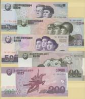 RO)2010 KOREA, BANKNOTE - WON, PAPER MONEY, ISSUET, FULL SET UNC - Korea, North