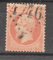 Empire N° 23 , 40 C Orange Obl GC 4746 Bureau Supplémentaire De AJAIN , Creuse , INDICE 13, TB - 1862 Napoleone III