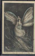 REUTLINGER - Femme Papillon - Dorures - TBE Précurseur - Ohne Zuordnung
