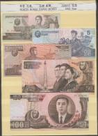 RO) 1992 KOREA, BANKNOTE - WON, PAPER MONEY, 1992 YEAR, FULL SET UNC - Banknotes