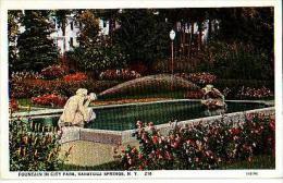 NEW YORK     92      Fountain In City Park Saratoga Springs - Saratoga Springs