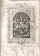 DIPLOME DE 1er COMMUNION LE 11 MAI 1882  -  Dim;  23CmX30Cm - Edit; BOUASSE JEUNE - Religion & Esotericism