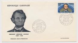 GABON => Enveloppe FDC => Président Abraham LINCOLN - LIBREVILLE - 28 Sept 1965 - Gabon