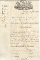 Lanciano  - Lettre Du 6e Régiment De Chasseurs à Cheval Pour Le Ministère De La Guerre - Documents Historiques
