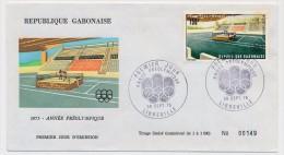 GABON => Enveloppe FDC => Année Préolympique - LIBREVILLE - 30 Sept 1975 - Gabon
