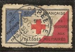 Rare Vignette De La Société Francaise De Secours Aux Militaires Oblitéré De Papeete Du 4 Octobre 1893 RRR