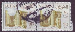 Sudan, 1962 - 20p  Bohein Temple, Coppia - Nr.157 Usato° - Sudan (1954-...)
