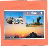LE TOUQUET  (cpm 62)  L'aqualud - L'église - Le Touquet