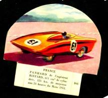 Chromo Grosjean La Vache Serieuse Voiture France Panhard De L'ingenieur Riffard 24 Heures Du Mans 1953 Etat Neuf - Chromos