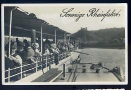 Cpa Carte Photo Allemagne Sonnige Rheinfahrt -- An Bord Des Dampfers - Ostmark -     NOV15 11 - Koenigswinter