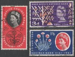 Great Britain. 1963 Centenary Of Post Office Savings Bank. Used Complete Set. - 1952-.... (Elizabeth II)