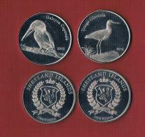 SHETLAND ISLANDS  2 X 1 Pound - Birds- 2015 - Otros – Asia