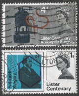 Great Britain. 1965 Centenary Of Joseph Lister´s Discovery Of Anticeptic. Used Complete Set. SG 667-668 - Used Stamps