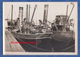 Photo ancienne - TURQUIE / Dardanelles - Bateau Anglais eclaireur de Mines - RARE - British Royal Navy Boat Ship Naval