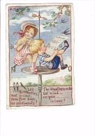 Cpa Illustrateur ALYS - Les Girouettes Vent De L´Est Beau Fixe Sentiments / Fillette Garçon Girouette Hirondelle Tricot - Altre Illustrazioni