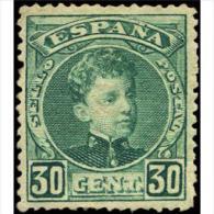 ES249STV-LFT2193TCSC.CADETE.España. Spain.Espagne.Alfonso Xlll Joven.1901/5.(Ed 249*)con Levisima Charnela. Lujo - Sin Clasificación