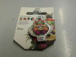 Pin040 Pins Spilla Foody Mascotte, Expo 2015 Milano, International World Exposition Food, Alimentazione, Cibo - Alimentación